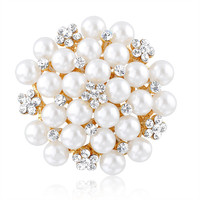 Gorgeous handmade crystal pearl brooch for wedding invitations