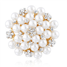 Gorgeous handmade crystal pearl brooch for wedding invitations
