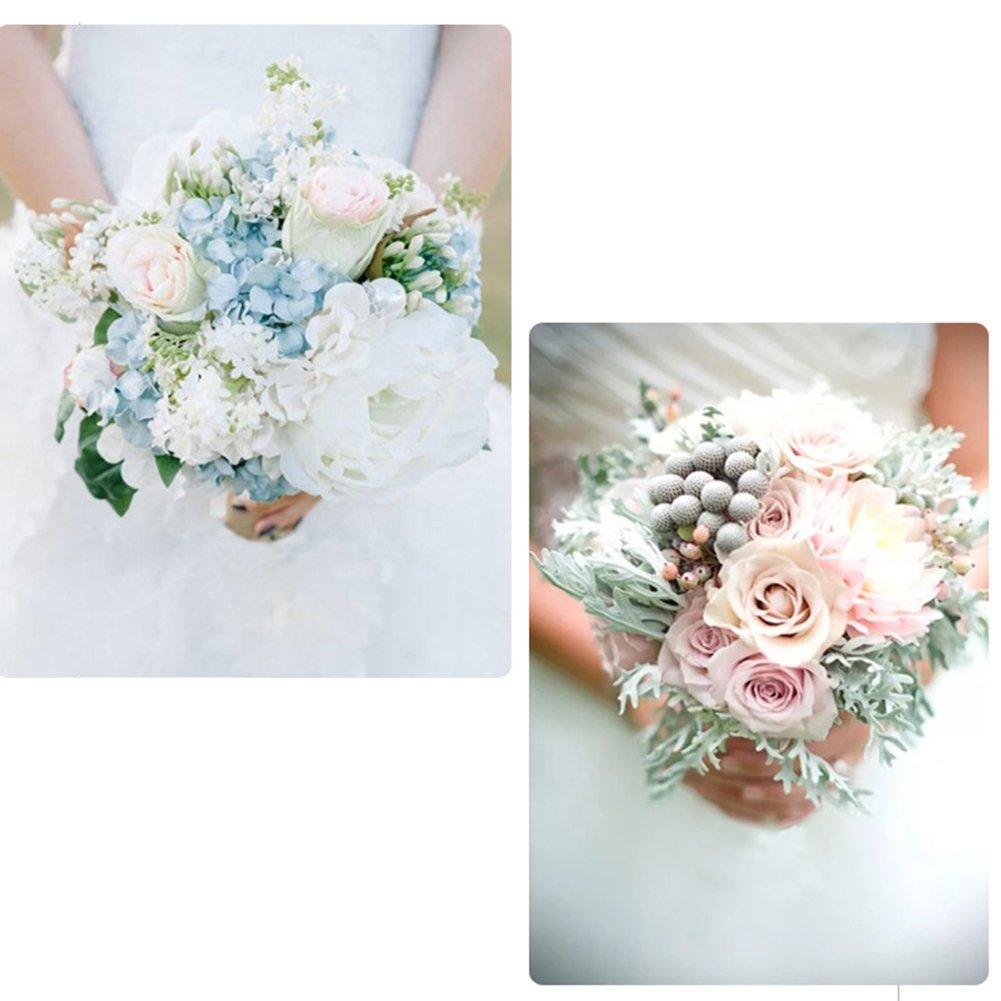 Hotsaleglobal 1 Pcs Bouquet Holders Foam Floral Handle Handle Bouquet Holder for Bridal Fresh Flowers Silk Flowers Wedding Supplies Decoration