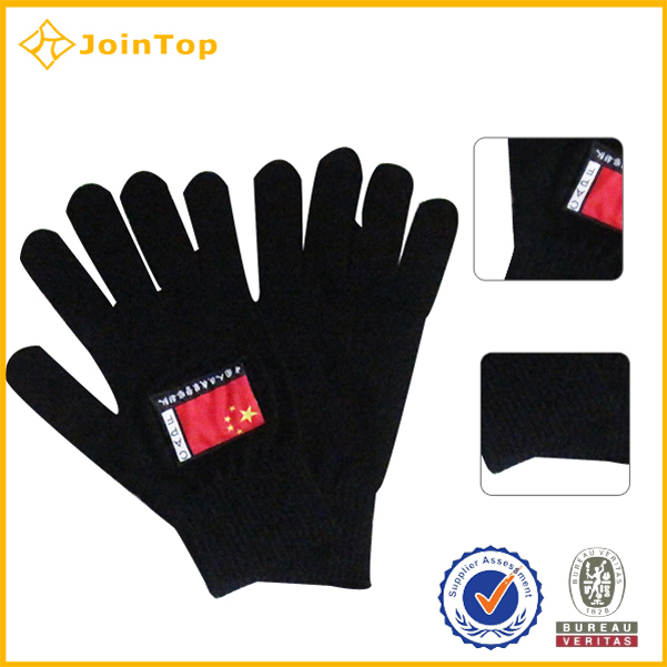 Jointop Factory Supply Navy Blue Knitted Gloves