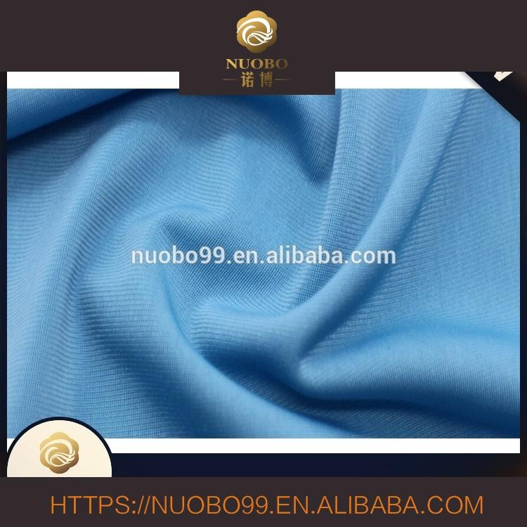 Textile 2017 Hot Selling Plain Dyed Knit Poly Fabric For Sportswear
