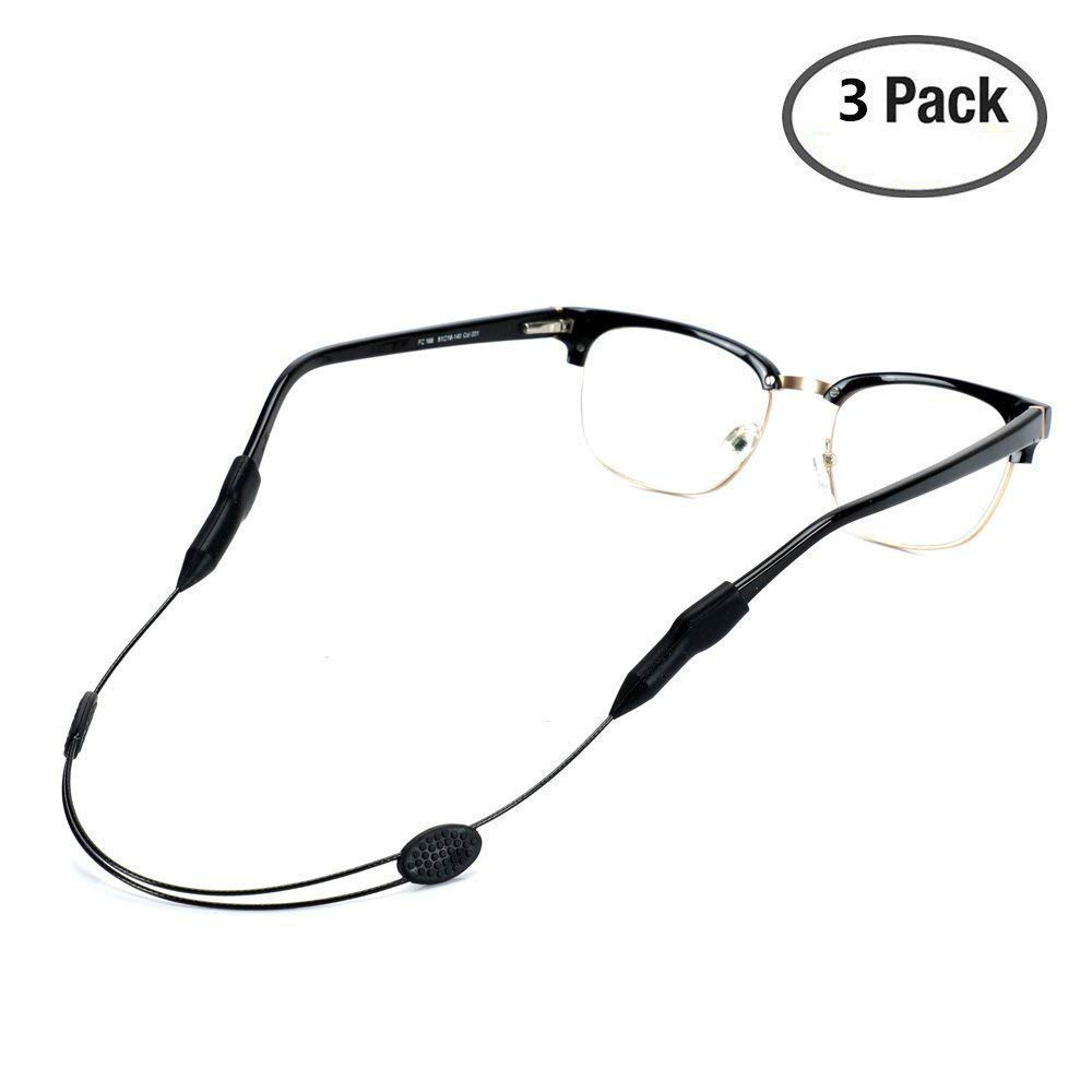 ae17c040e6a Get Quotations · VIEEL 3 Pack Sunglasses Holder Strap - Adjustable Eyewear  Retainer