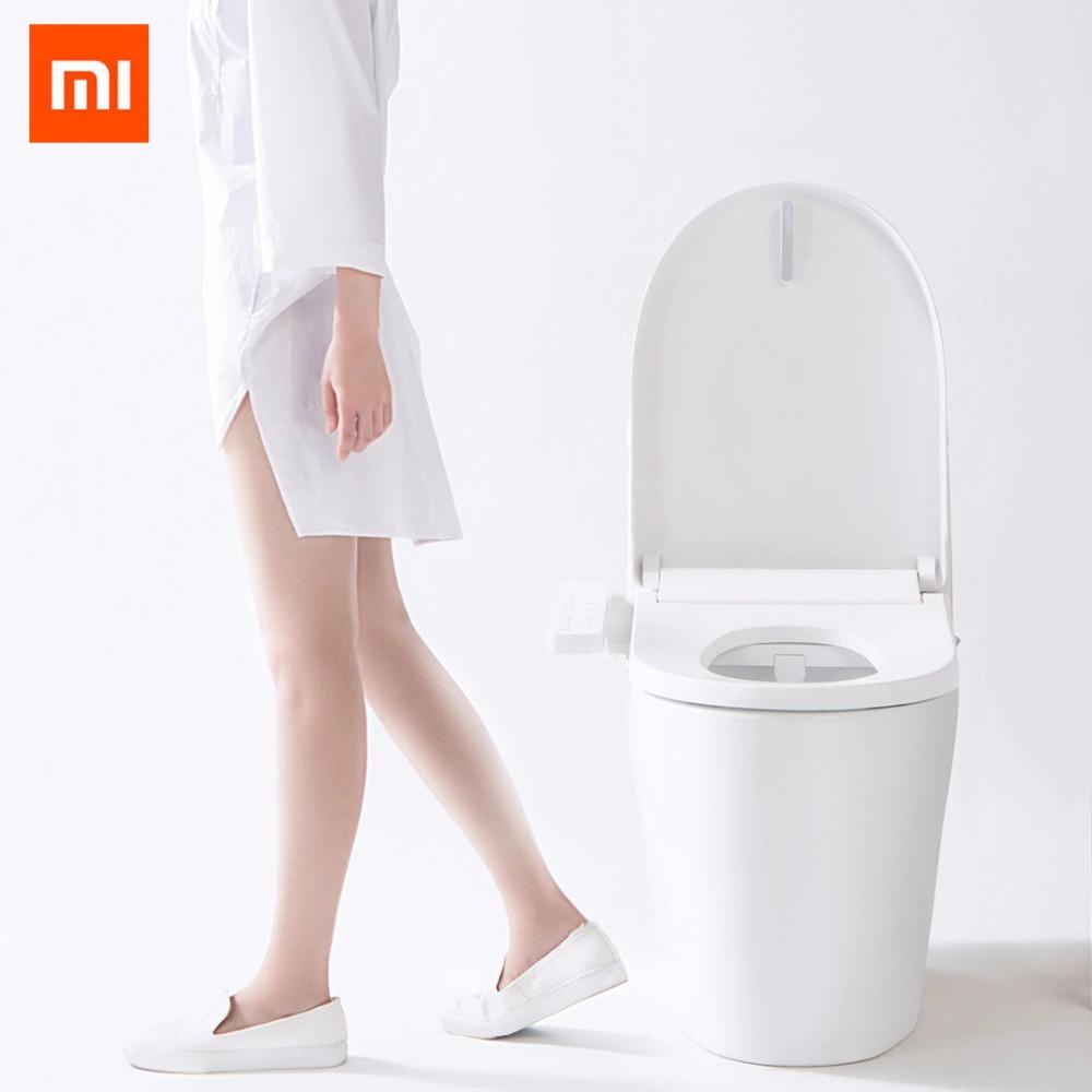 4-ग्रेड समायोज्य सीट तापमान स्मार्ट शौचालय सीट ठंड-गर्म मालिश धोने बिजली Bidet कवर बुद्धिमान शौचालय ढक्कन