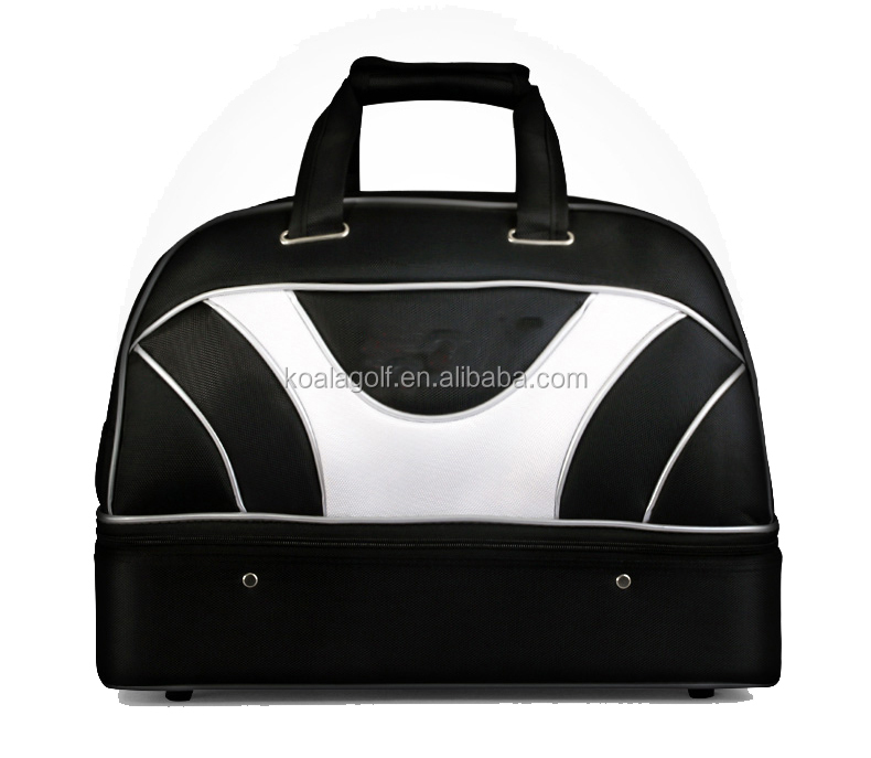 Genuine Leather Golf Bag with shoe compartment