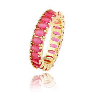 fashion ruby gemstone ring copper 18k gold wedding ring