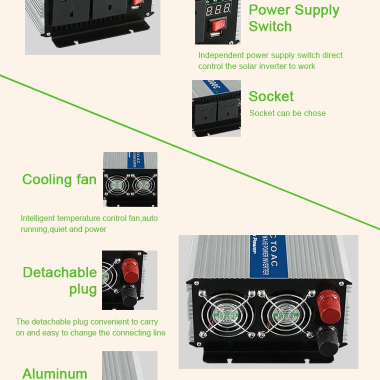 3000w Solar Power Inverter Ac 230v 400v 24v 3000w Made In China ...