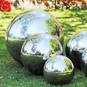 Christmas Supply Mirrored Gazing Garden Stainless Steel Hollow Balls