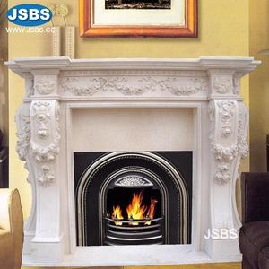 New Product High Quality White Carved Marble Fireplace Hearth