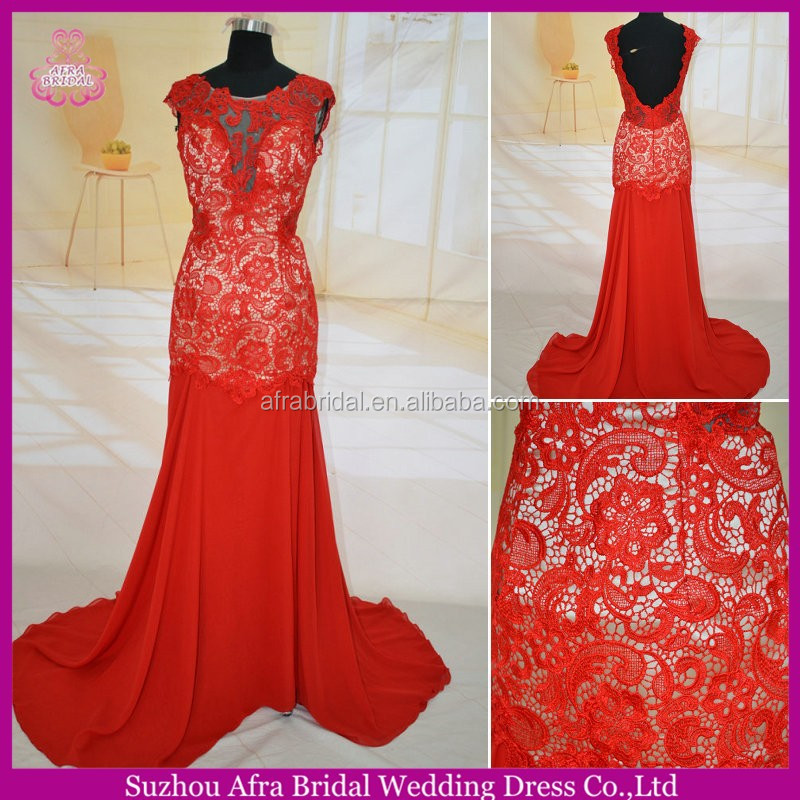 SW158 sheer top flowing chiffon beach sexy red and white wedding dresses
