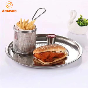 Mini Round deep Stainless Steel potato chips French Fryer Basket