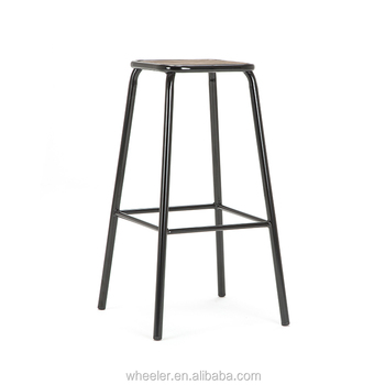 Miraculous Anji Cheap Price Of Bar Furniture Metal Frame Wood Seat Industrial Bar Stools Buy Metal Bar Stools Wood Bar Stools Industrial Bar Stools Product On Inzonedesignstudio Interior Chair Design Inzonedesignstudiocom