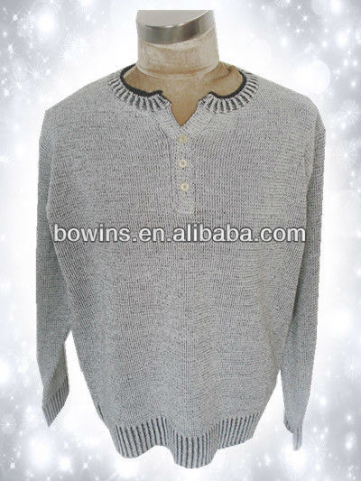Mens 100 acrylic long sleeve pullover sweater
