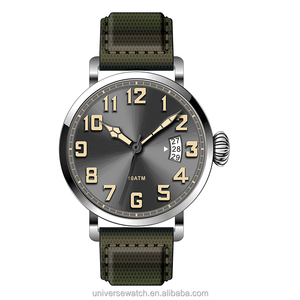 Waterproof big number dial quart movement military watches men