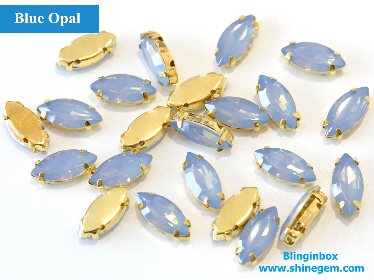 High quality rivoli shape sew on rhinestone with metal setting for dancing dress