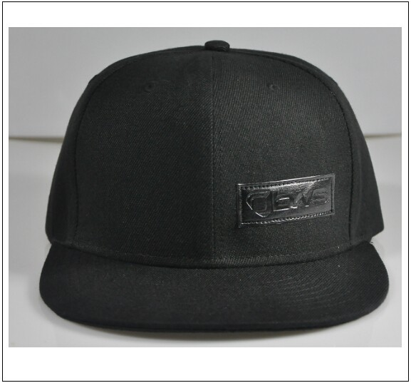Leather Patch Adjustable Cheap Snapback 6 Panel Hat H-0005