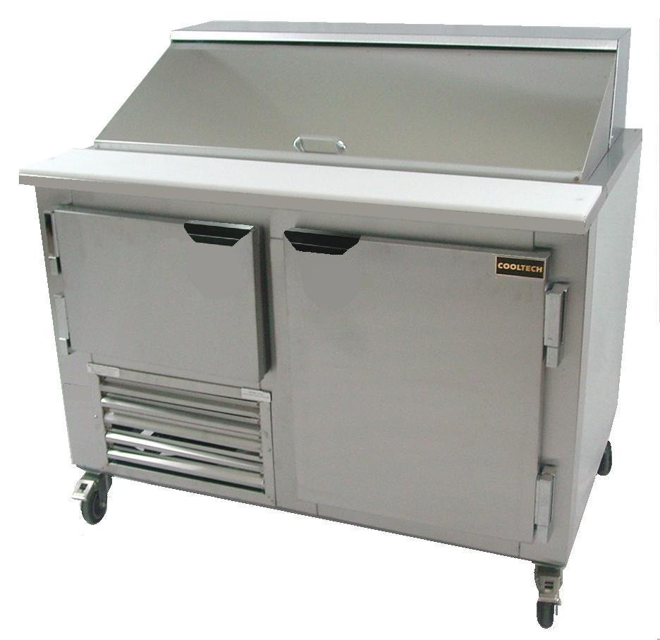 "Cooltech Refrigerated 2-Door Sandwich Prep Table 36/"""