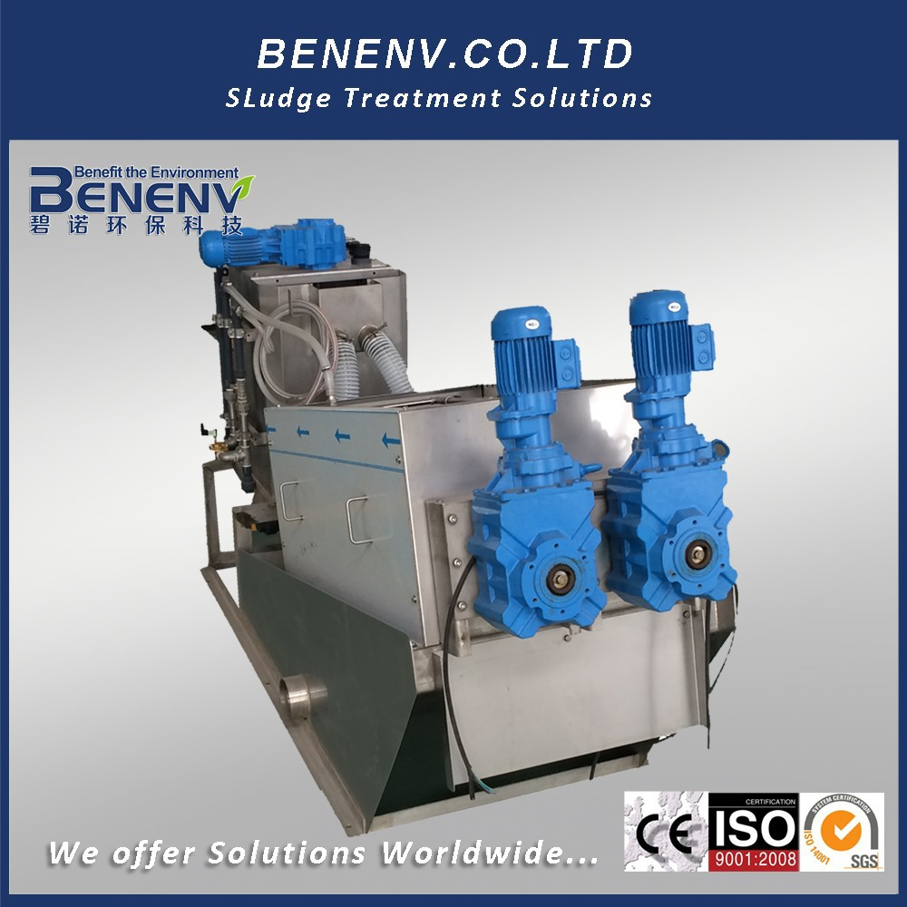 Compact screw press for Pharmaceutical Factory Sewage Treatment