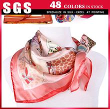 Pretty and colorful designer silk scarves for women
