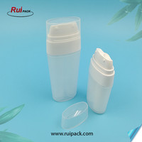 15&30ml double tube airless bottle for lotion