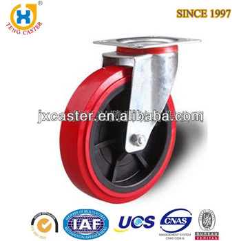 8 inch Swivel Heavy Duty waste container caster with PU wheel