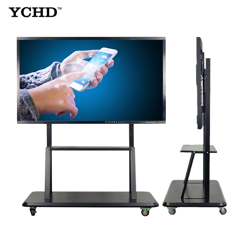 Vergadering wifi digitale bericht 50 inch touch screen display board alles in een moederbord