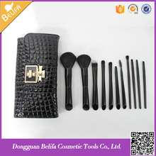 Buy Direct From China Wholesale Belifa 11pcs profeesional makeup brush set with PU leather high quliaty bag
