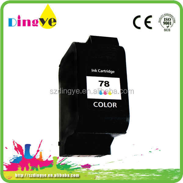 China Factory OEM remanufactured ink cartridge 78 for HP in 2016