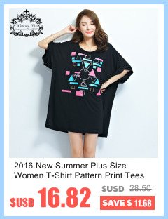 ccdecadd 2016 New Summer Plus Size Women T-Shirt Pattern Print Tees Batwing ...