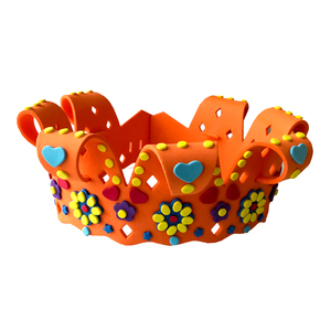 high quality kids eva foam crown princess crown with cord