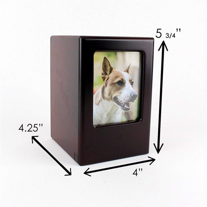 North cool Mini Stainless Steel Paw Heart Cremation Urn Dog Pet Cinerary Funeral Casket Pet Memorials Useful Size : S