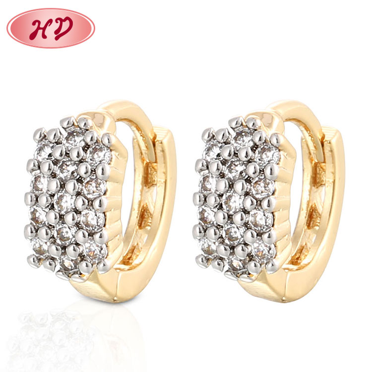 New Design Bridal Gold Jhumka Earrings Fashion 18k Gold Plated