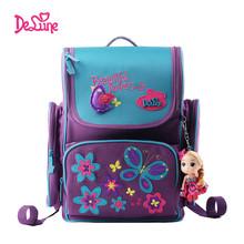 Delune font b kids b font cartoon backpacks font b school b font backpack children orthopedic