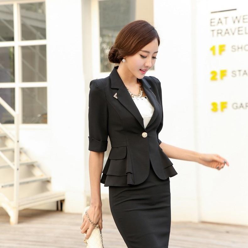 d5dd5ba0b Get Quotations · Spring Autumn Formal Female Black Blazer Women Jackets  Slim Fashion Ladies Blazer Feminino Office Uniform Style