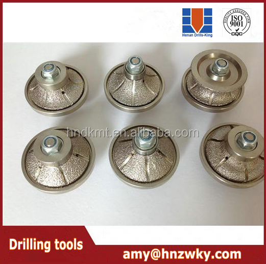 high efficiency vacuum brazed diamond grinding edge polishing tools for stone grinding and polishing
