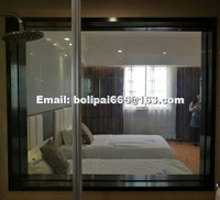 Smart Switchable Glass price with PDLC film, electric glass wall office hotel home partition white to opaque