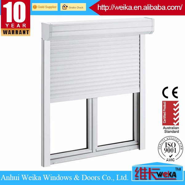 Manual Open Aluminum Shutter Window With Roller Up