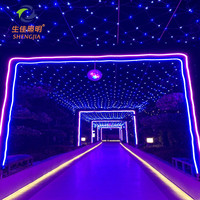 hot-sale led net light Beautiful christmas waterfall for wedding party