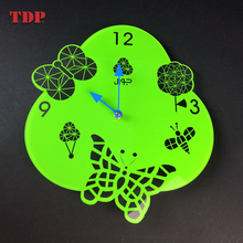 Home Decoration Custom Design 3D Fashion Acrylic Wall Clock