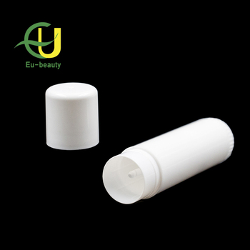 17g colored plastic empty lip balm tube containers