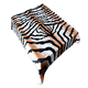 Tiger stripe printed promotion plush fleece blanket