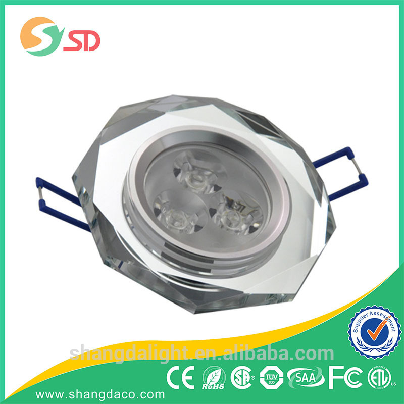 2015 new design 3w LED crystal downlight/ceiling light