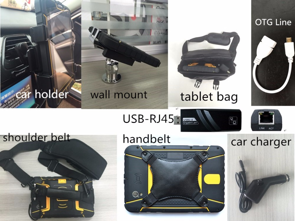 ST907 4G LTE 7 inch rugged tablet pc android UHF RFID reader fingerprint collector barcode scanner