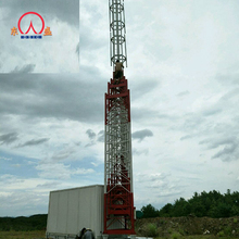 Pneumatic telescopic tower and mobile communication base station
