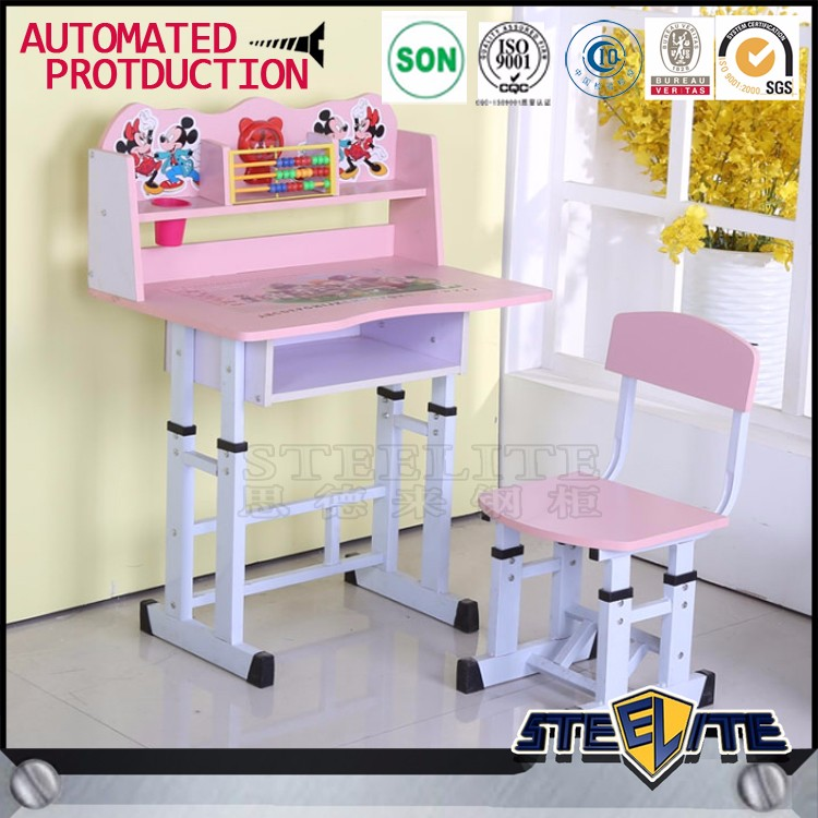Lovely Kids Cartoon Study Table And Chair Kids Homework Table