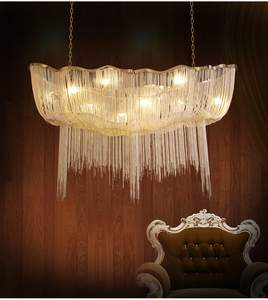 European luxury terzani jellyfish industrial Aluminum Lampadario a bracci chandelier Kronleuchter LED for living room hall