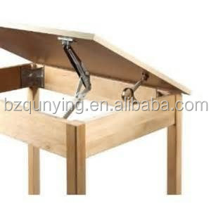 Adjustable spring hinge, folding table hinge