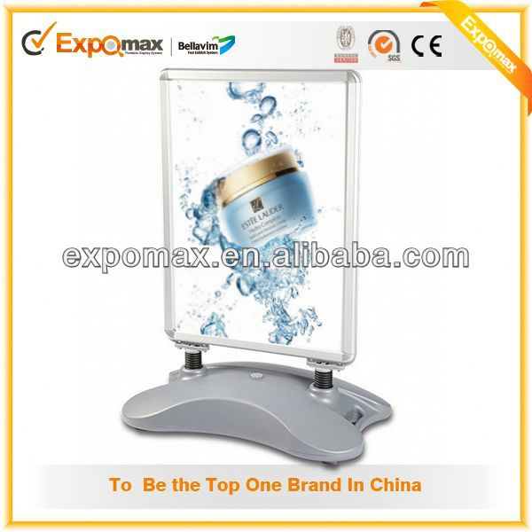 Supply commercial products pop pallet display cardboard advertising poster display stand