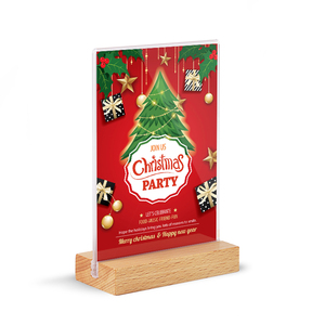 New Product Wood Table Tent Card Holder Stand Poster Racks Picture Photo Frame For Christmas Advertising Posters