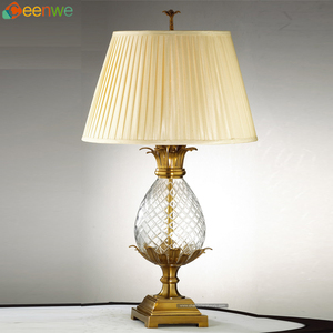 New 1 Lights Bronze Table Lamps unusual table lamps flower bud shaped glass
