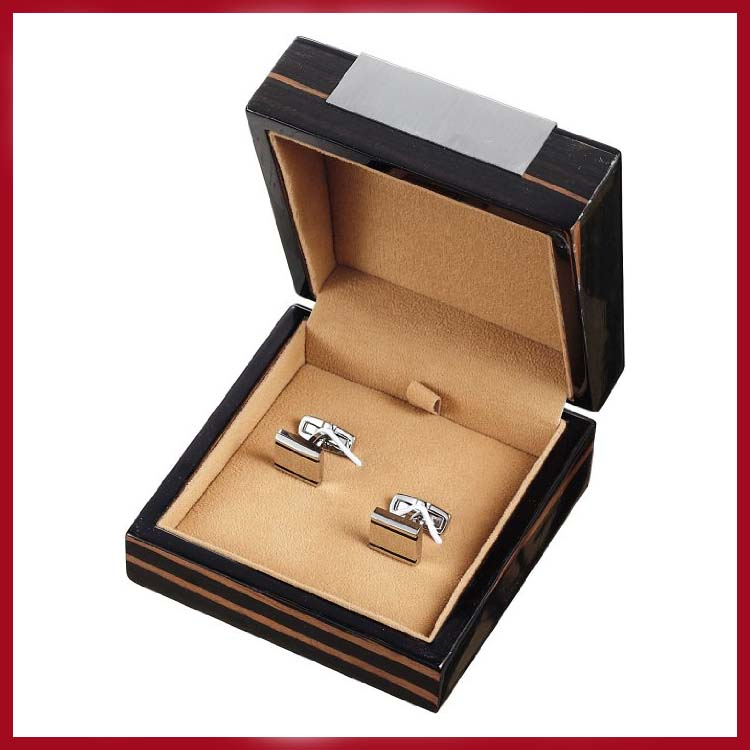 High Quality Ebony Personalised Wood Cufflink Box With Stainless Steel Plate - Buy Wood Cufflink BoxEbony Wooden Cufflink BoxStainless Steel Plate Box ... & High Quality Ebony Personalised Wood Cufflink Box With Stainless ... Aboutintivar.Com